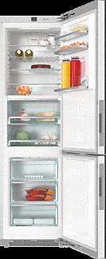 KFN 29683 D obsw - Wolno stojąca chłodziarko-zamrażarka XL z ekskluzywnym frontem szklanym, PerfectFresh Pro i FlexiLight.--