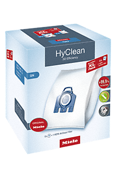 GN Allergy XL HyClean 3D - Allergy XL-Pack HyClean 3D Efficiency GN 8 worków do odkurzacza i 1 filtr HEPA AirClean w korzystnej cenie--NO_COLOR
