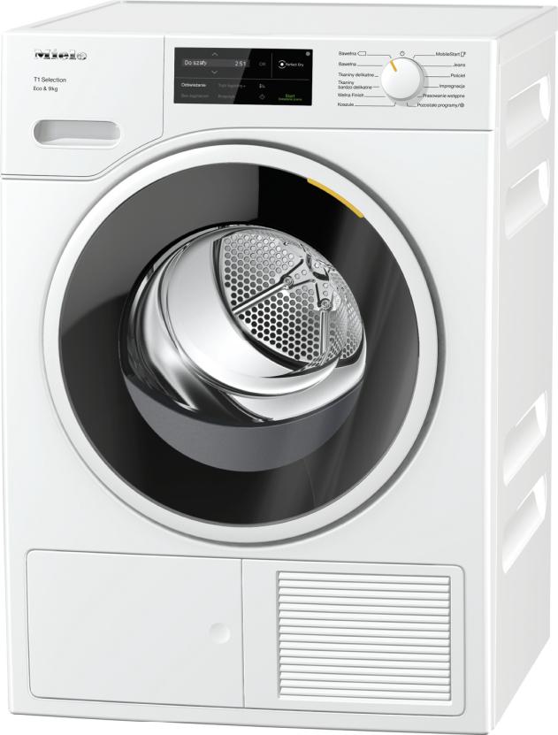 Suszarka z pompą ciepła T1 Z 1–9 kg załadunku i WiFiConn@ct dla inteligen. pielęgnacji prania.